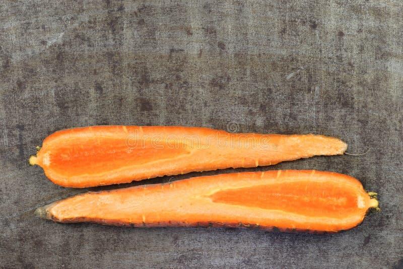 Продольная морковь зимы отрезка стоковое фото
