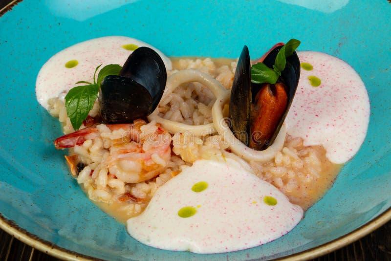 продуктов моря risotto еды традиционное итальянских nutritious вкусное стоковые фото
