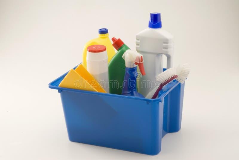 продукты домочадца чистки стоковое фото