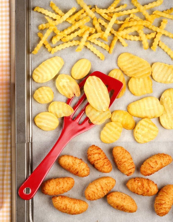 продукты картошки удобства стоковая фотография