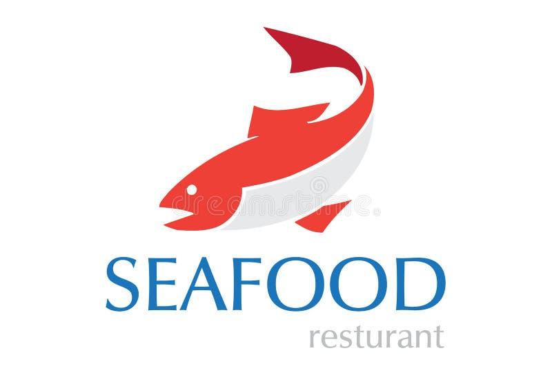 продукты моря логоса конструкции иллюстрация штока