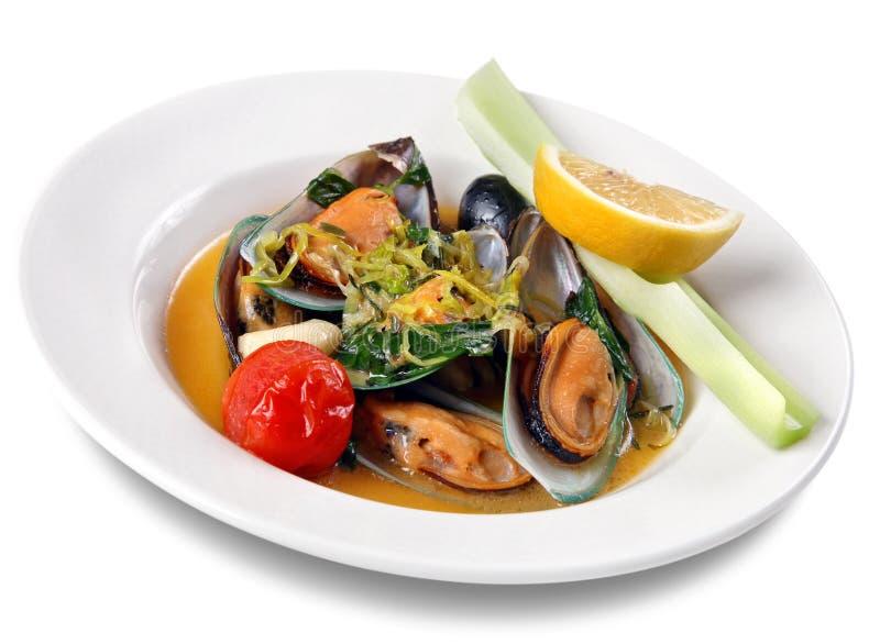продукты моря мидии стоковые изображения rf
