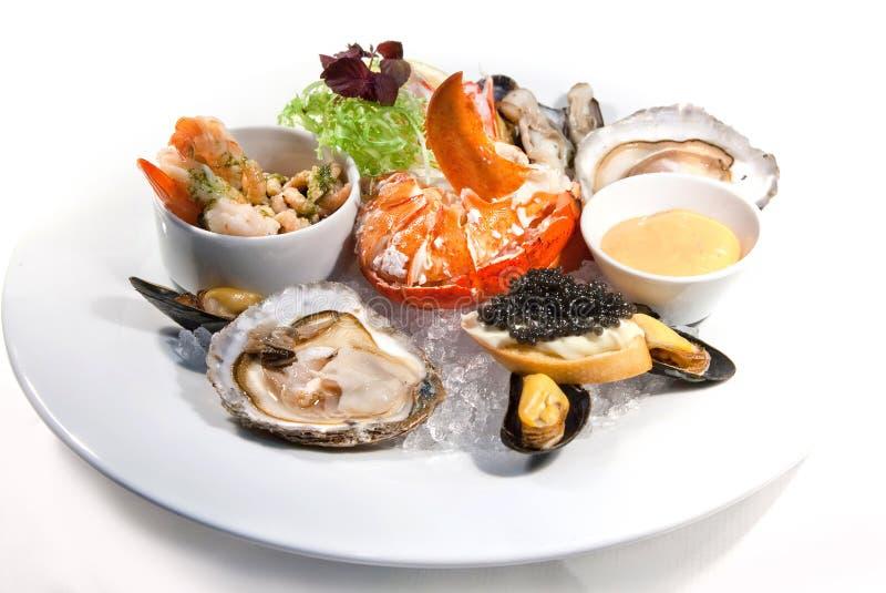 продукты моря плиты стоковое изображение