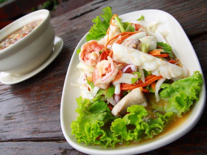 продукты моря салата тайские стоковое изображение rf