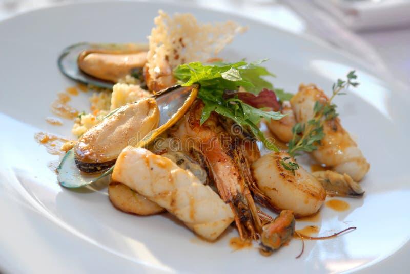 продукты моря салата стоковые фотографии rf