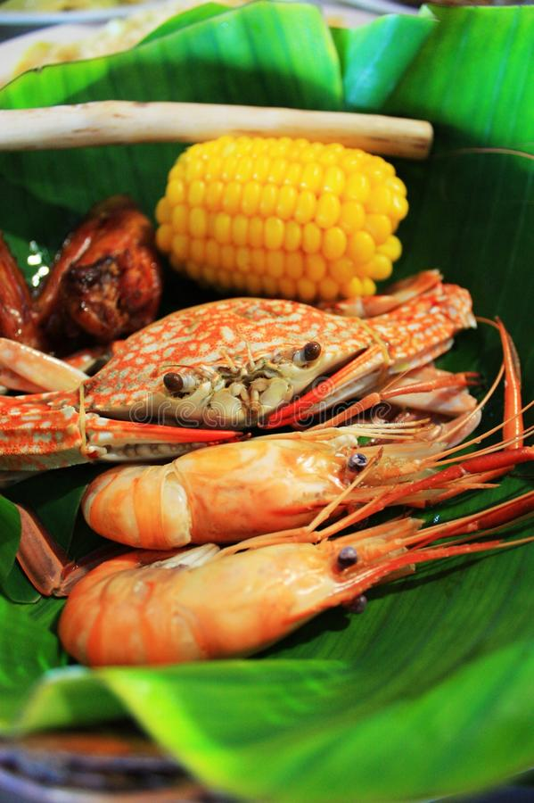 продукты моря тайские стоковое фото
