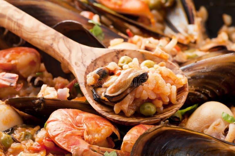 продукты моря paella стоковое изображение