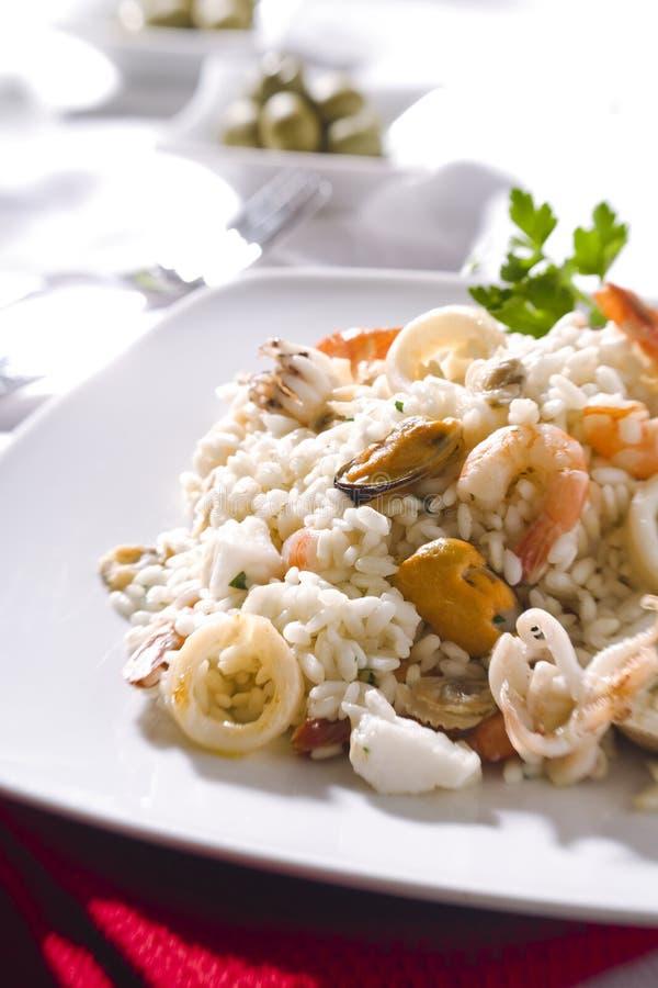продукты моря risotto стоковые изображения rf