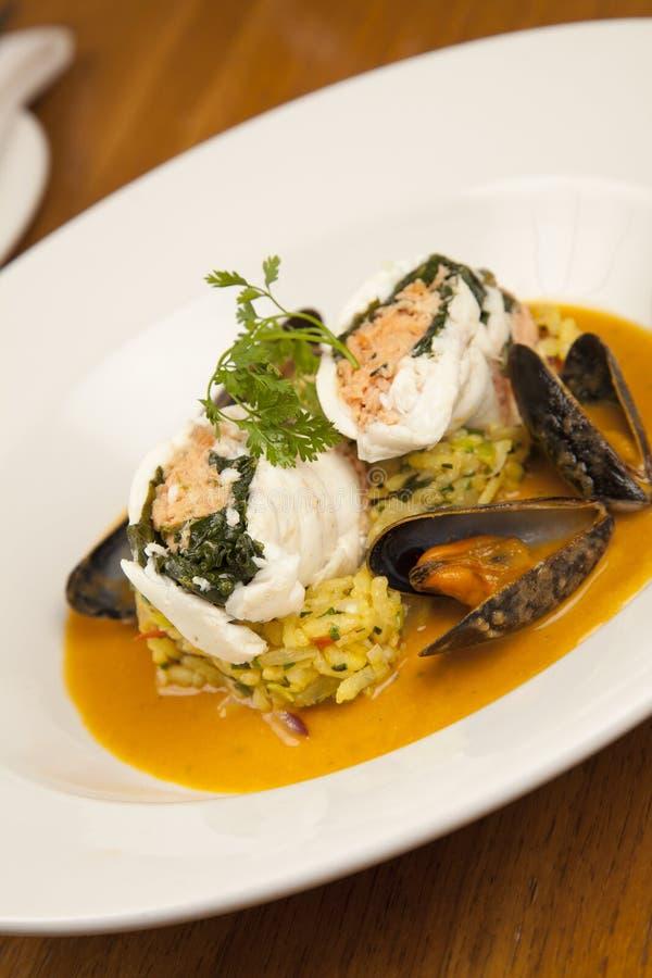 продукты моря risotto стоковое фото rf