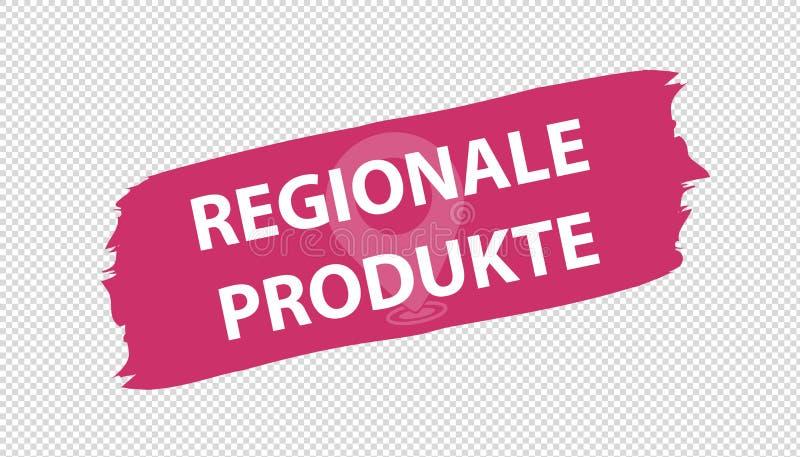 Продукты немецкого знамени Brushstroke региональные - иллюстрация вектора - изолированные на прозрачной предпосылке бесплатная иллюстрация