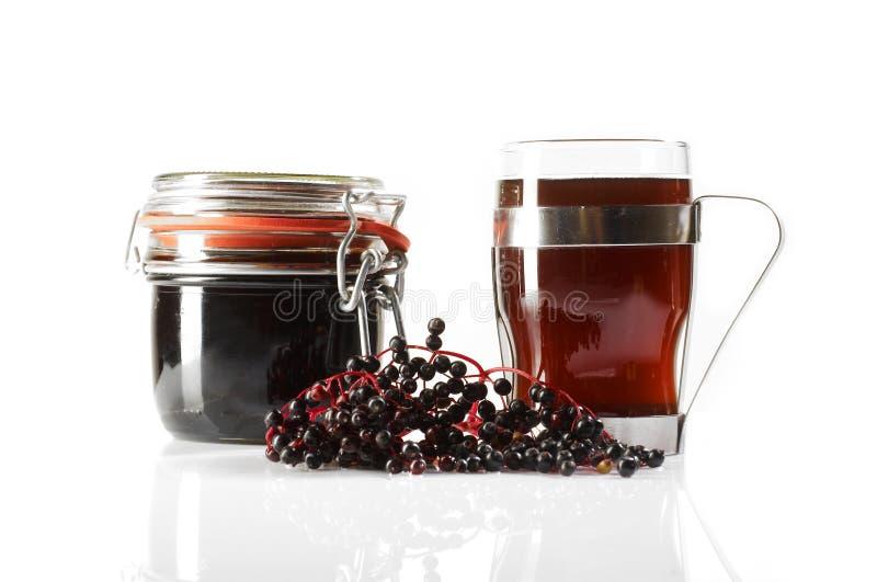 продукты старейшини ягоды стоковые изображения