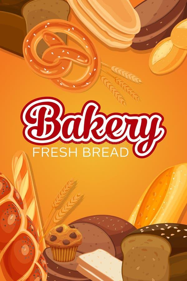 Продукты хлеба иллюстрация штока