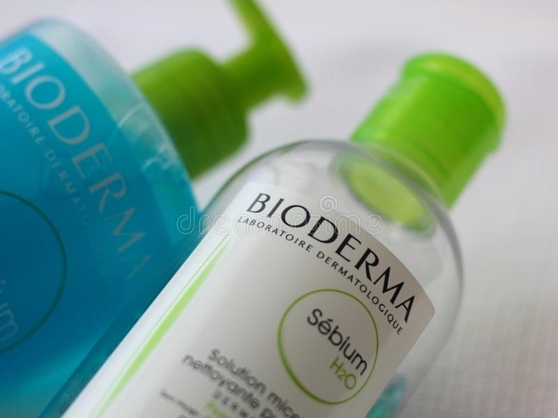 Продукты Bioderma стоковое изображение rf