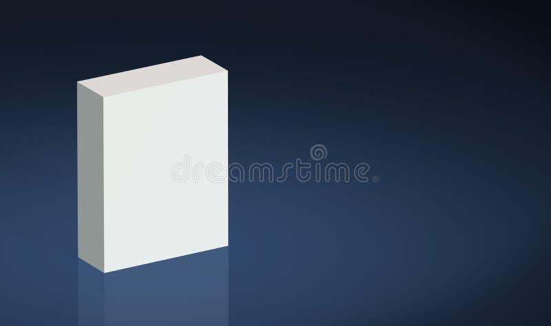 продукт равнины голубой коробки бесплатная иллюстрация