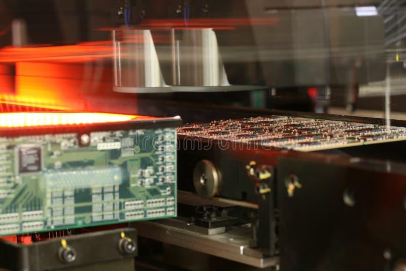 Продукция модулей RAM стоковое изображение rf