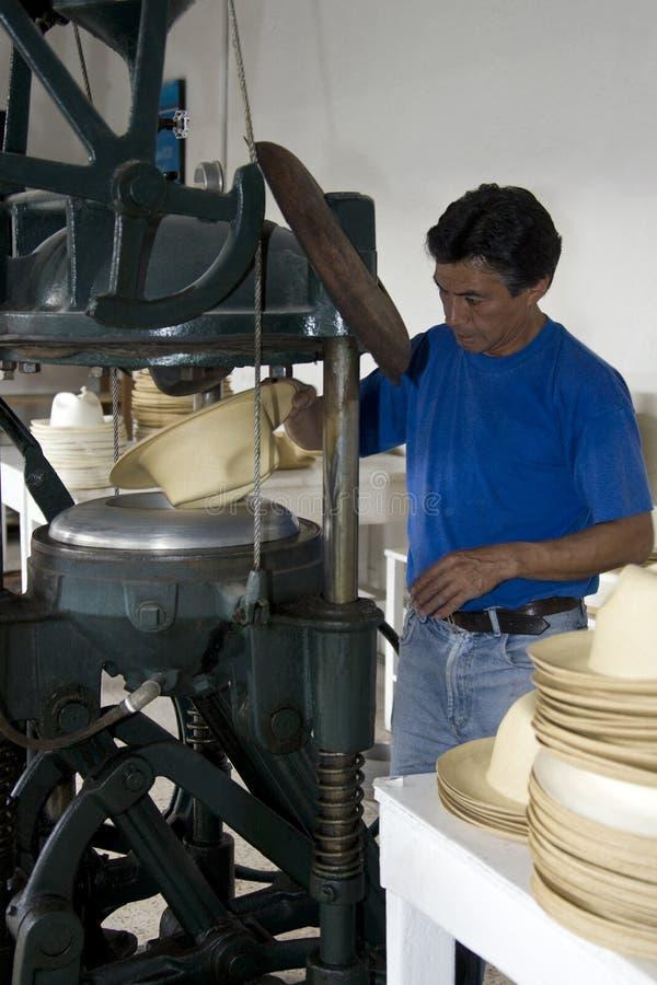 Продукция шлема Панамы - эквадор стоковые фото