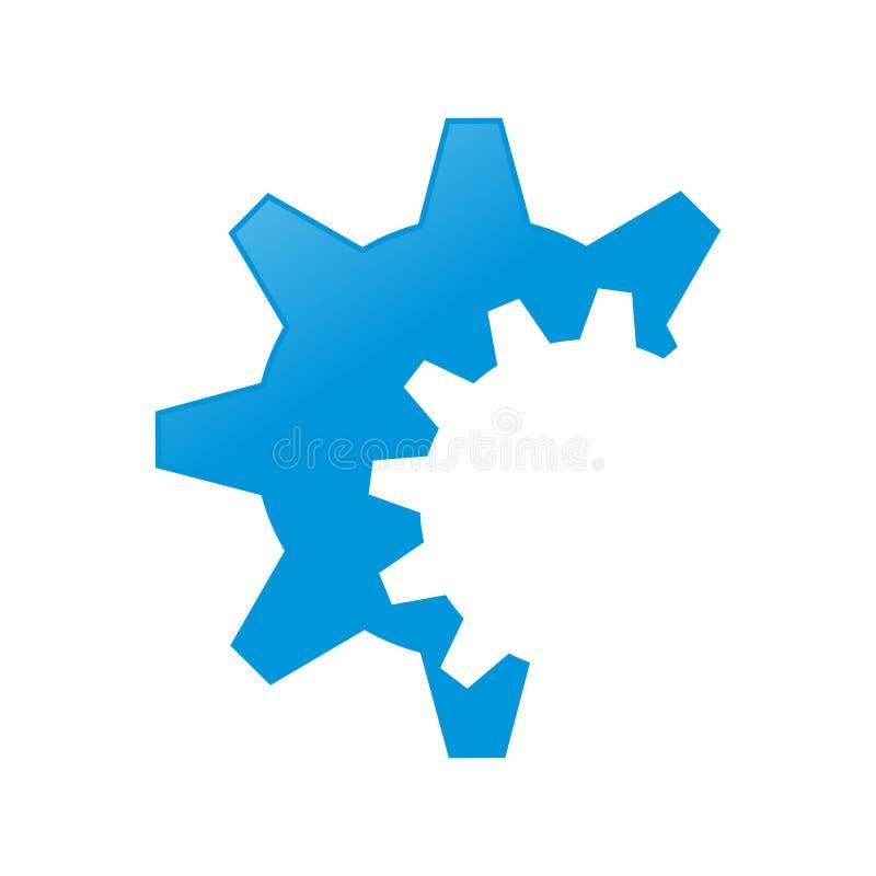 Проектировать дизайн символа шестерни закрепленный Cog стоковое изображение rf