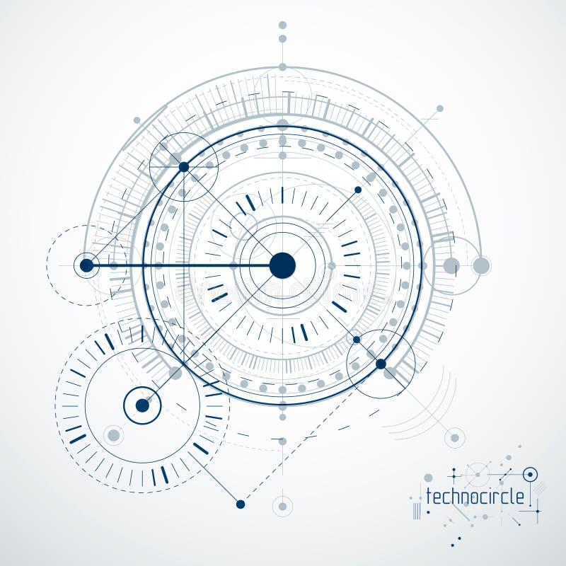 Проектирующ технологические обои вектора сделанные с кругами и иллюстрация вектора