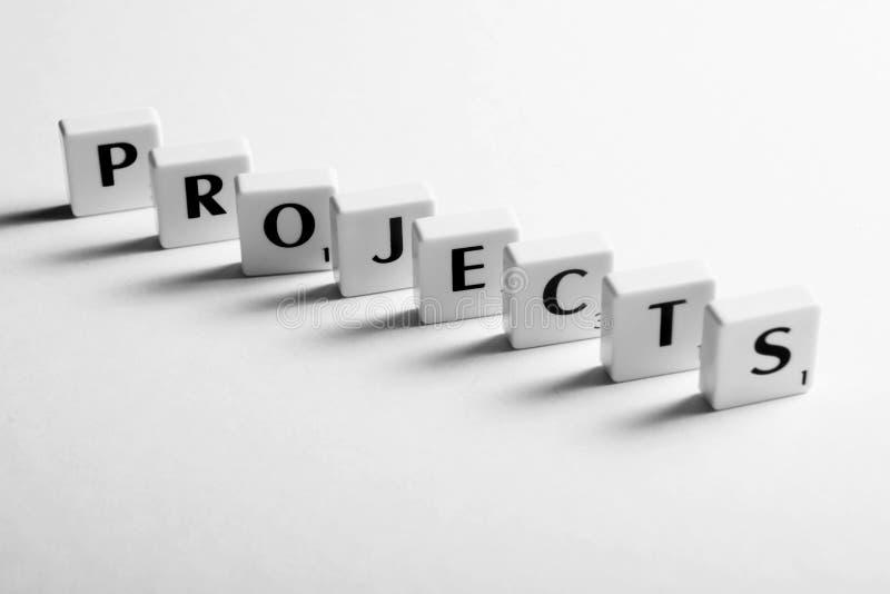 Проекты водят нас к успеху стоковая фотография