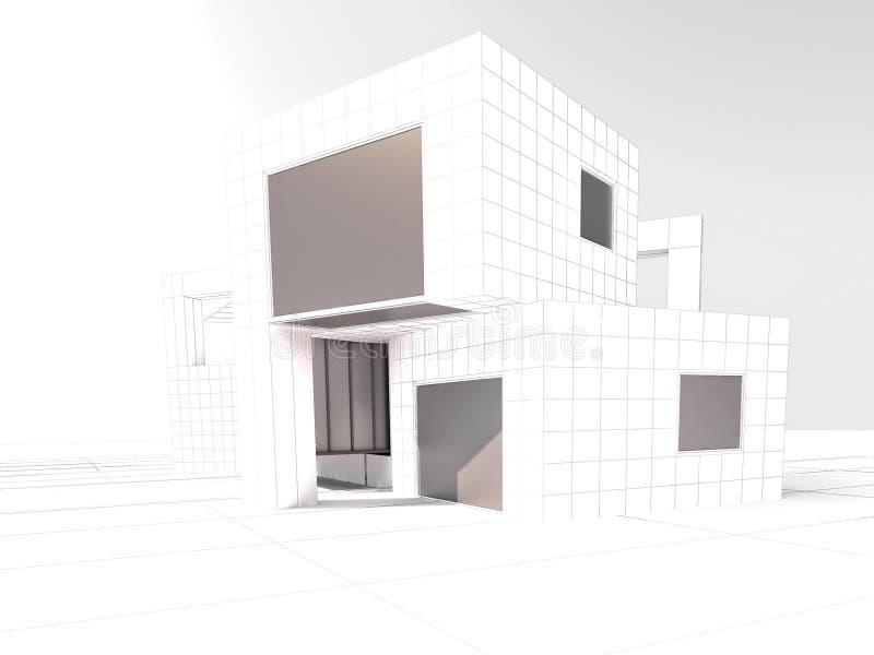 Проект архитектуры просторной квартиры бесплатная иллюстрация