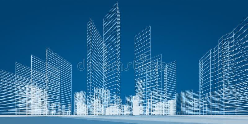 Проект города иллюстрация штока