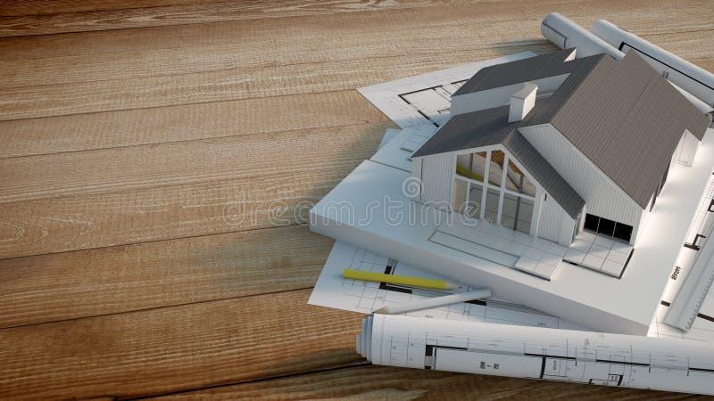 Проект жилищного строительства иллюстрация штока