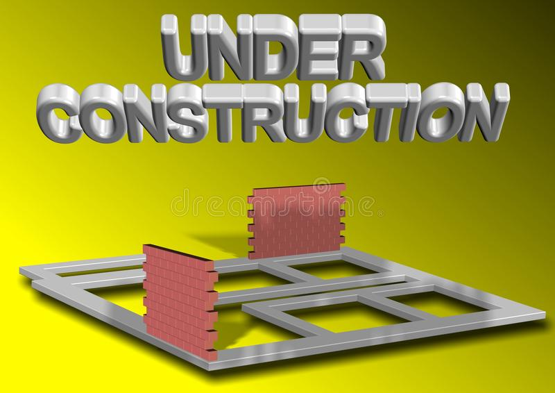 Проект под конструкцией иллюстрация штока