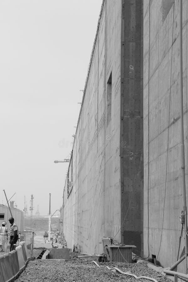 Проект расширения Панамского Канала стоковая фотография