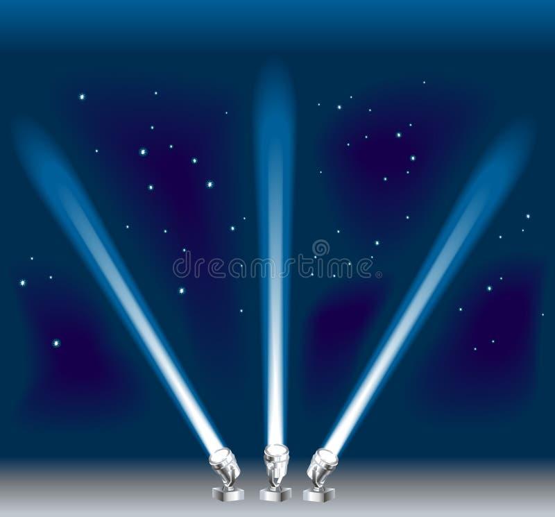 прожекторы бесплатная иллюстрация