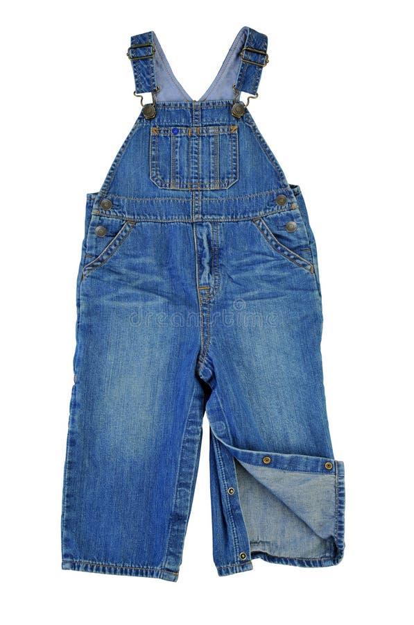 Прозодежды джинсовой ткани детей стоковое фото