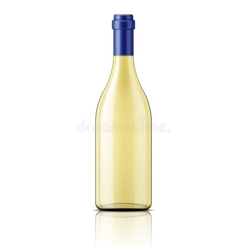 Прозрачная бутылка белого вина бесплатная иллюстрация