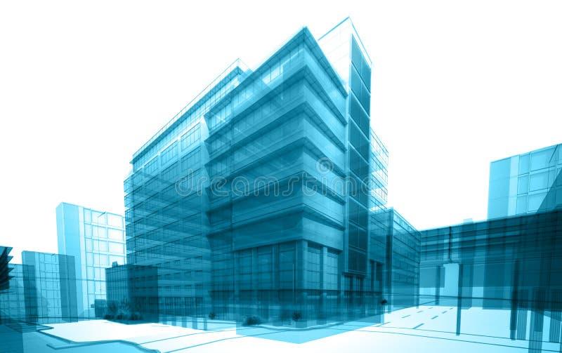 Прозрачное здание бесплатная иллюстрация