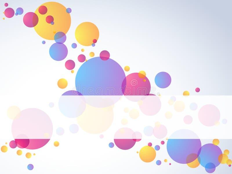 прозрачное пузыря знамени горизонтальное иллюстрация штока