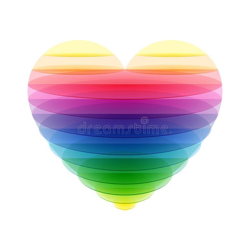 Прозрачное сердце иллюстрация штока