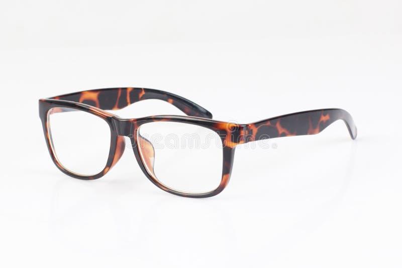 Прозрачные изолированные eyeglasses стоковое фото rf