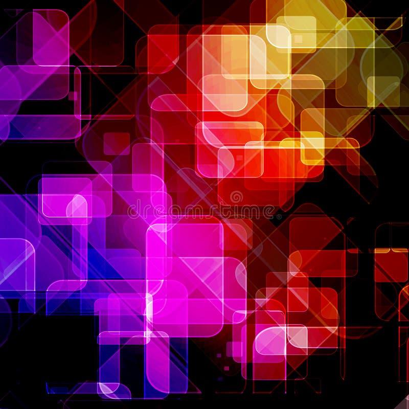 Прозрачные квадраты иллюстрация штока