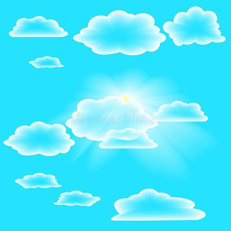 Прозрачные облака на небе лета стоковые изображения rf