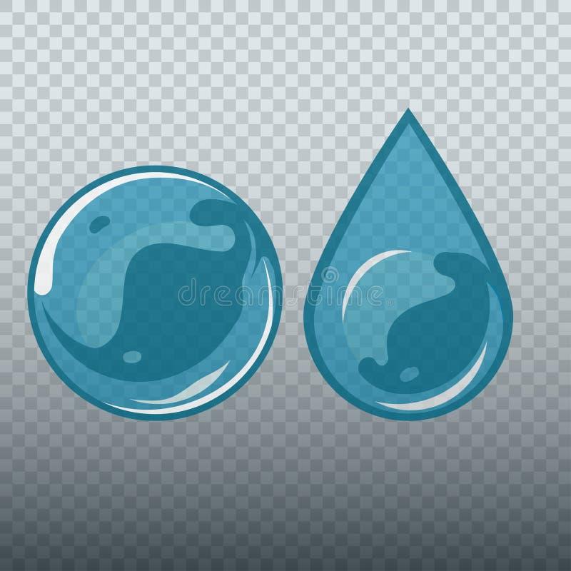 Прозрачные подводные пузырь и падение иллюстрация штока