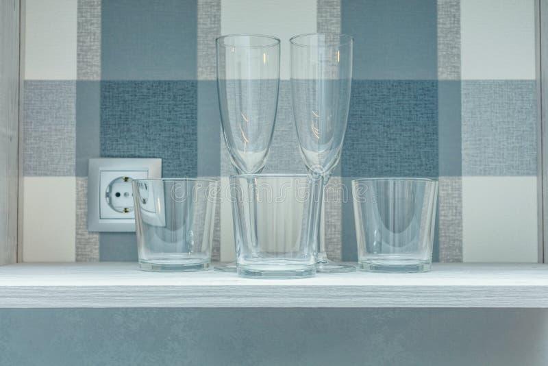 Прозрачные чистые стекла стоковые фото