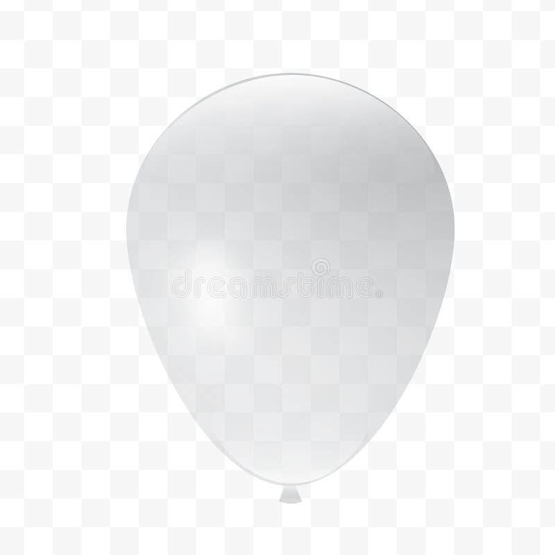 Прозрачный воздушный шар, украшение дизайна для дня рождения или клеймить стоковое фото rf