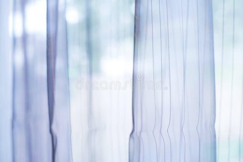 Прозрачный занавес на окне стоковые изображения rf