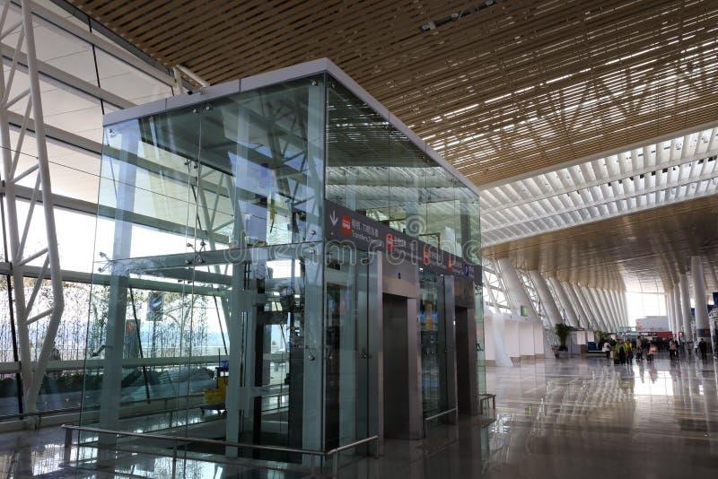 Прозрачный лифт t4 стержня, amoy город, фарфор стоковое изображение
