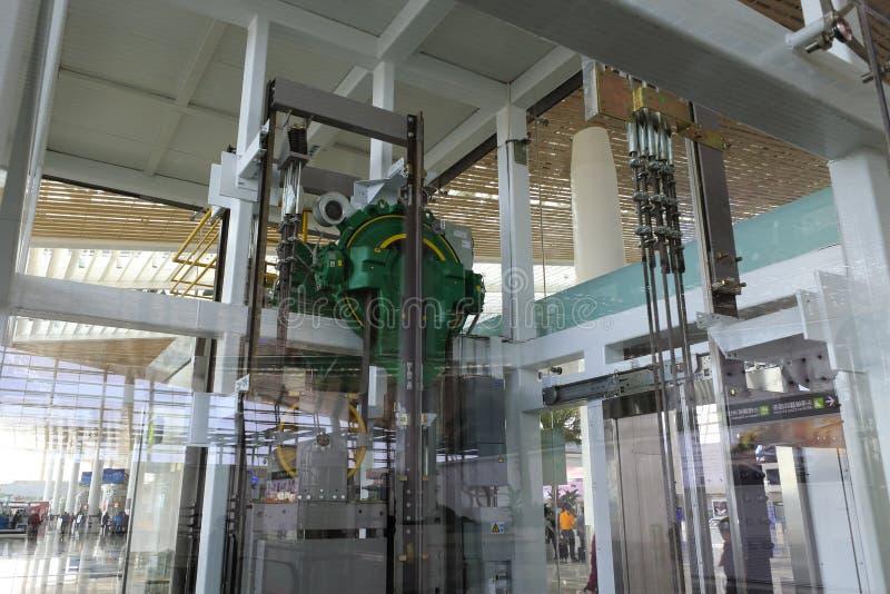 Прозрачный лифт t4 стержня, amoy город, фарфор стоковая фотография rf