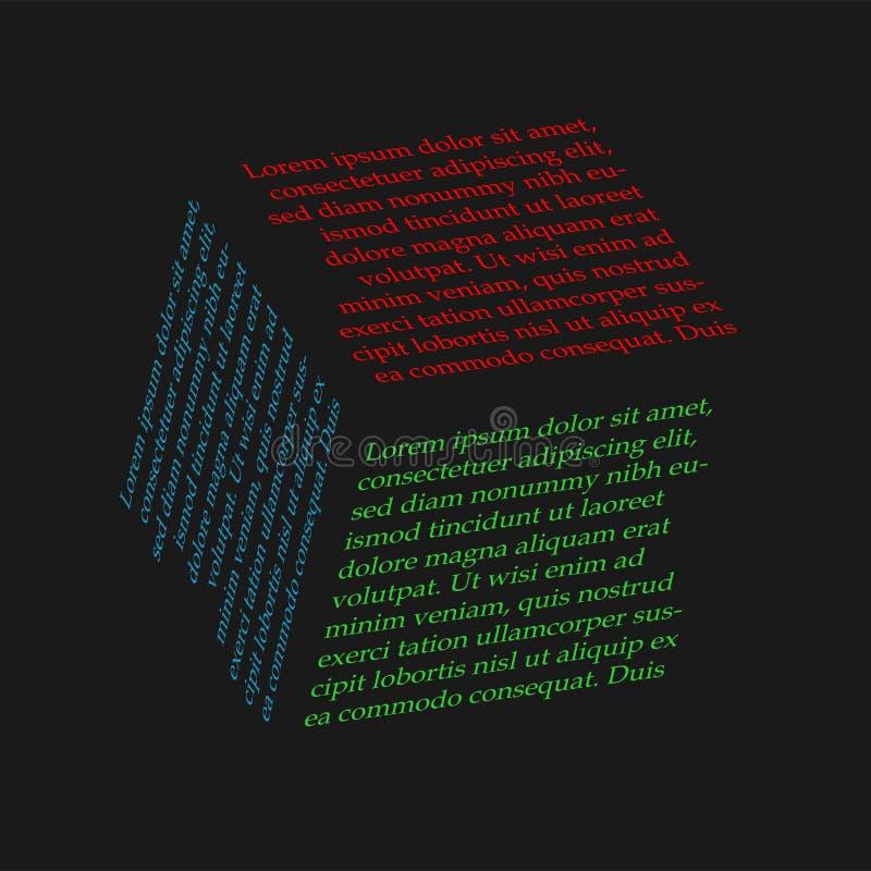 Прозрачный куб с надписью бесплатная иллюстрация