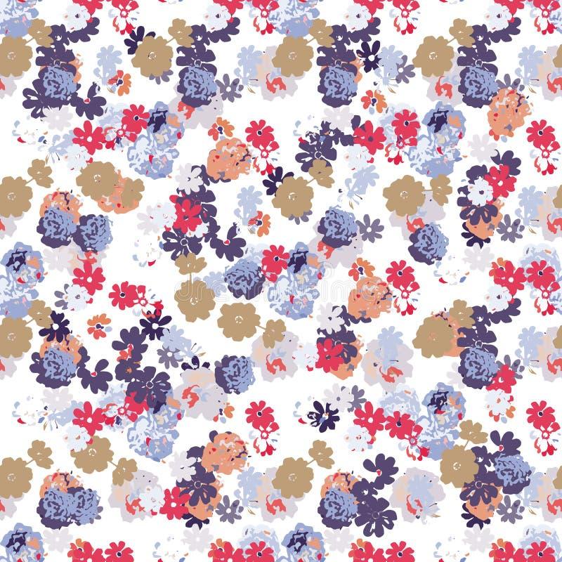 Прозрачный цветочный узор в векторе Прозрачный вектор для тканей и упаковки иллюстрация штока