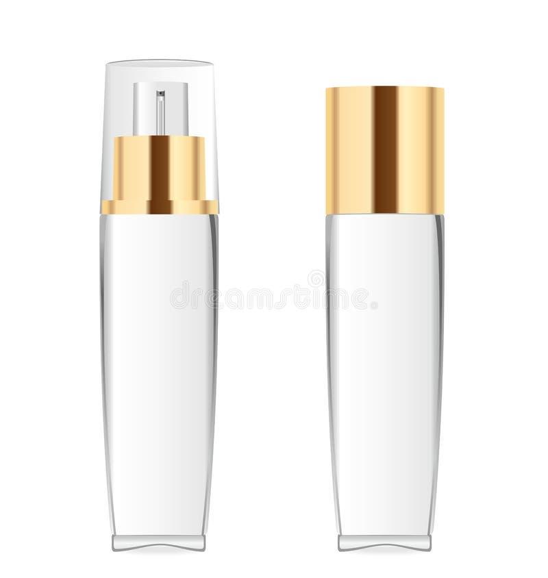 2 прозрачных косметических бутылки бесплатная иллюстрация