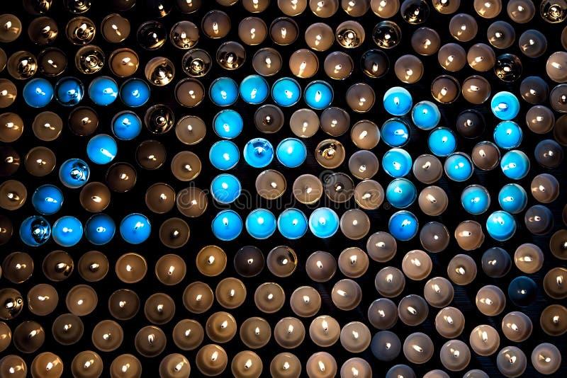 Прозрение буддиста Дзэн Слово ДЗЭН в сини осветило чай светлый c стоковая фотография