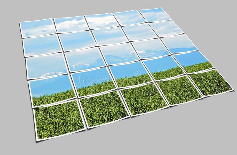 произведенный компьютер коллажа стоковое фото rf