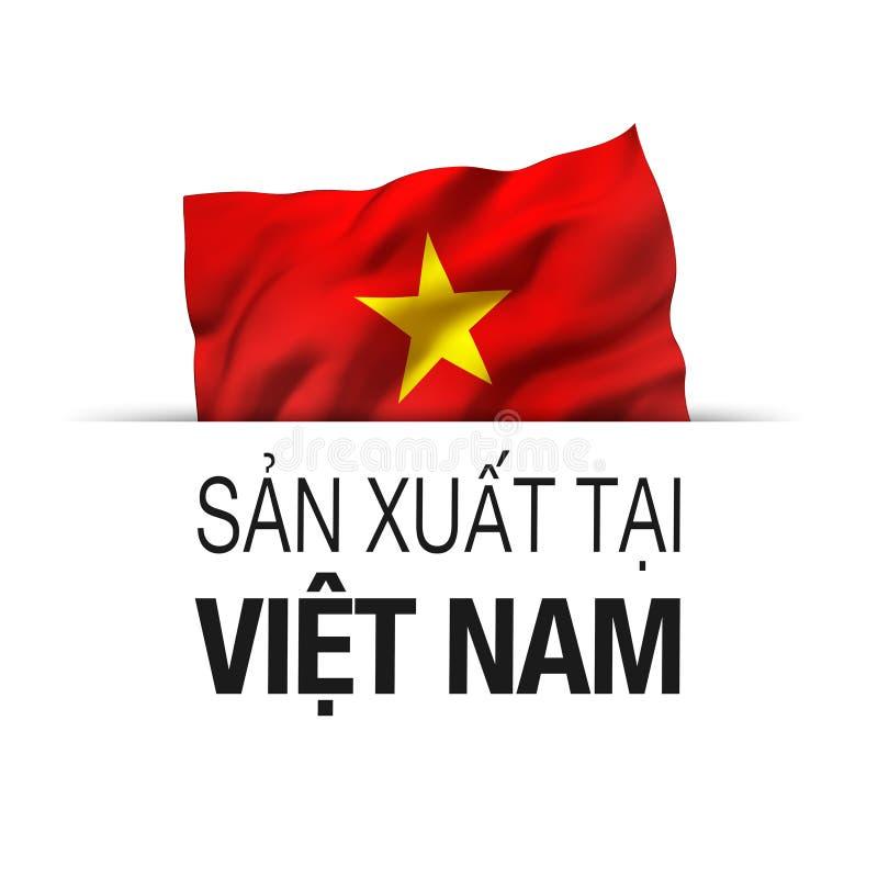 Произведено во Вьетнаме - надпись на вьетнамском языке бесплатная иллюстрация