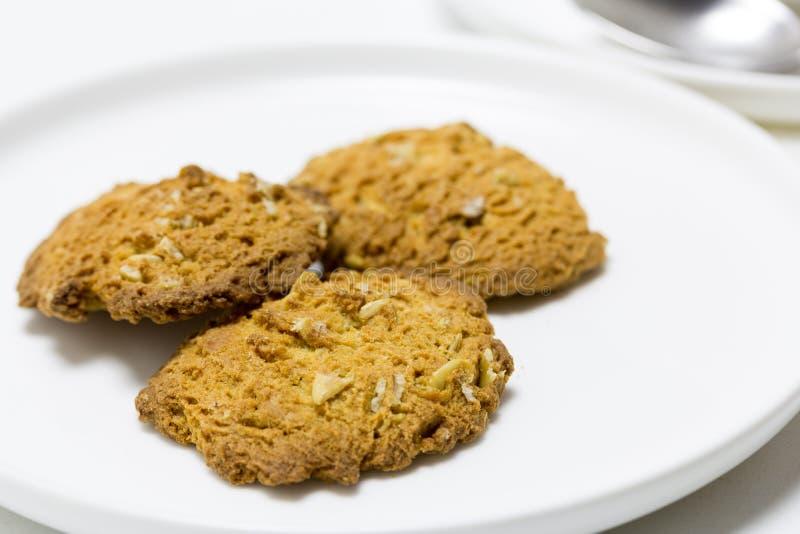 Произведите печенья с овсами и никаким добавленным сахаром стоковое изображение